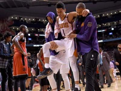 Suns guard Devin Booker leaves game vs. Raptors with adductor injury