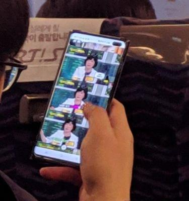 A Samsung Galaxy S10+ has been spotted in the wild