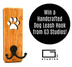 Win a Handcrafted Dog Leash Hook from G3 Studios! Giveaway