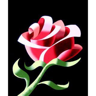 Mark Webster - Abstract Geometric Rose 3 Still Life Painting