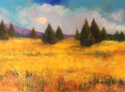 """Contemporary Landscape, """"Fields of Gold,"""" by Amy Whitehouse"""