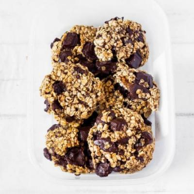 3-Ingredient Oat Chocolate Cookies
