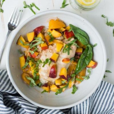 Instant Pot Peach Chicken & Basil