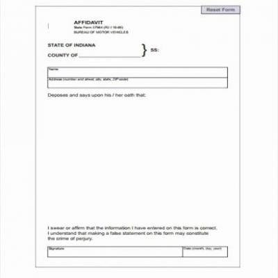 30 Awesome Affidavit Of Residency Template Pics