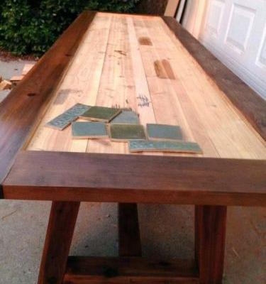 50 Inspirational Ceramic Tile top Dining Table Images