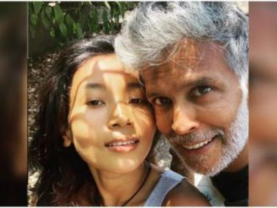 Milind Soman shares loved-up post with Ankita Konwar on Instagram. Read here