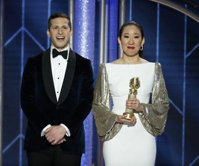 Andy Samberg Had the Most Adorable Reaction When Sandra Oh Won a Golden Globe
