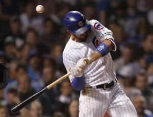 Cubs' Bryant hit on left wrist by pitch, leaves game