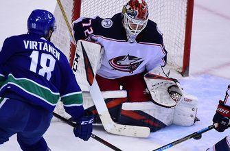 Bobrovsky earns 7th shutout, Blue Jackets defeat Canucks 5-0