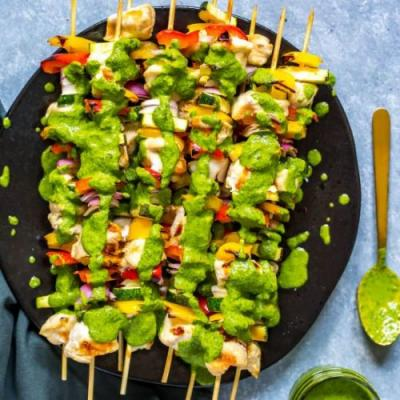 Grilled Chimichurri Chicken Kabobs