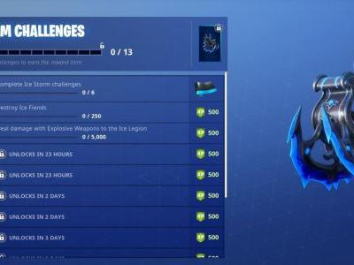 Fortnite Ice Storm Challenge Guide : Destroy Ice Fiends, Damage Ice Legion