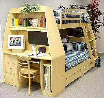29 Beautiful Full Bunk Bed with Desk Pictures