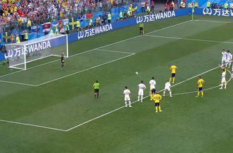 Watch Granqvist score on the penalty to give Sweden the lead