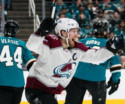 Colorado Avalanche even up NHL playoff series vs. San Jose Sharks with Game 2 win