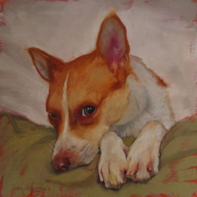 A dog painting, Cooper I