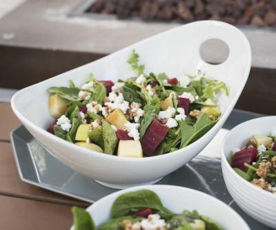 Winter Spinach Salad with Petit Billy Goat Cheese