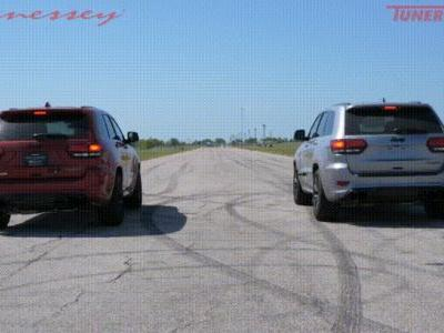 Watch Hennessey HPE850 Drag Race Stock Jeep Trackhawk