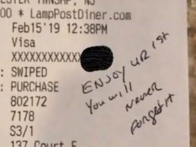 'Really awesome': Officer leaves pregnant waitress big tip on $9 bill