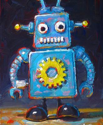 Wind Up Robot Blue