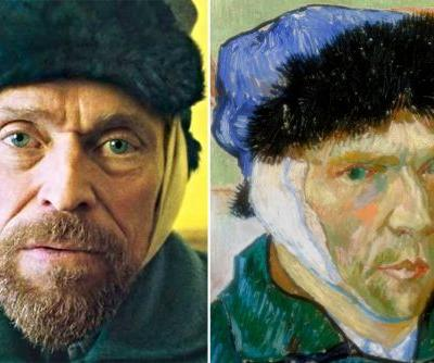Julian Schnabel painted Willem Dafoe portrait for van Gogh film