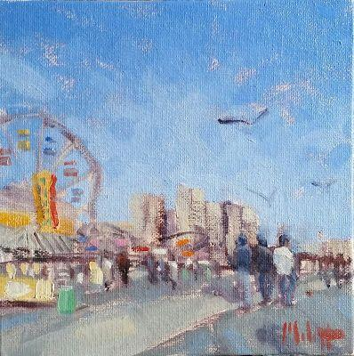 Coney Island NYC Art Original Oil Painting Heidi Malott