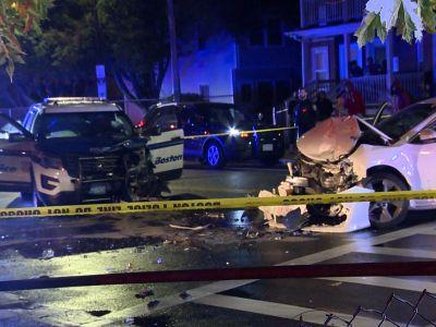 2 Boston police officers injured in head-on crash in Dorchester