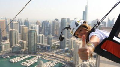 Soar Through Dubai's Cityscape With This Extreme Zipline