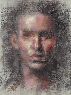 """Portrait of a man"" pastel on paper"