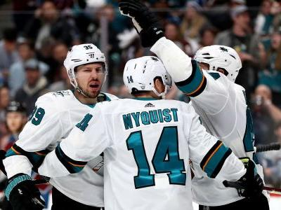 NHL playoffs 2019: Sharks' Logan Couture delivers knockout with hat trick in Game 3 win over Avs