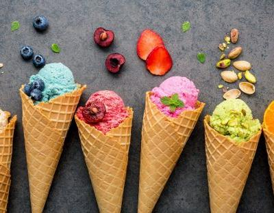 Fruity, botanical ice creams, tried and tested