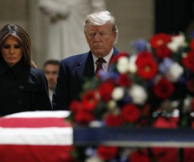 At the Capitol, George H.W. Bush Is Saluted as a 'Gentle Soul' and a 'Great Man'
