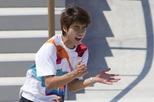 Japan's Horigome wins first ever Olympic skateboard gold