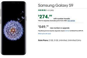 Cricket has a great deal on the Samsung Galaxy S9; pay $275 when your port over your number