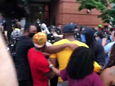 Watch: Video captures clash, aftermath between Boston police, protesters