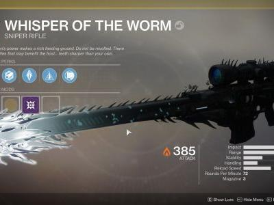 How to Get the Whisper of the Worm in Destiny 2