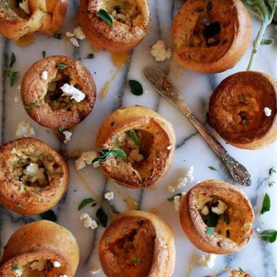 Herb & Goat Cheese Popovers