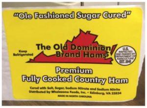 44.5 Tons of Ham Recalled due to Listeria Illnesses and a Death