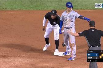 WATCH: Royals keep line moving in third inning, score in three straight at-bats