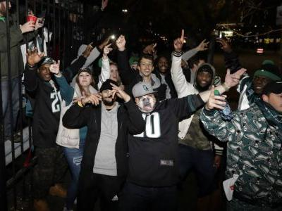 Few arrests as Eagles fans take to streets to celebrate
