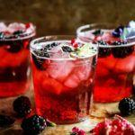 Blackberry Pomegranate Ginger Moscow Mule