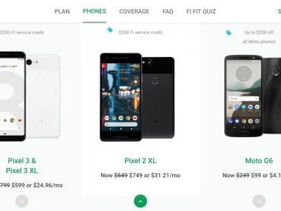 Project Fi Black Friday: $200 off Pixel 3, 3 XL + $200 credit, $99 Moto G6, $400 off LG