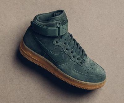 """Nike Air Force 1 High Gets Decked out In """"Vintage Green"""""""