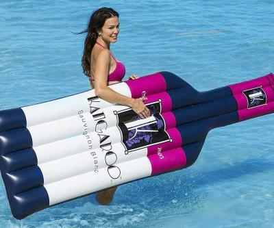 Wine-bottle pool floats will rule your summer Instagram feed