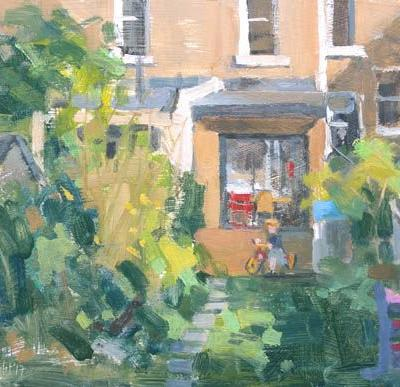 Painting my garden from the studio