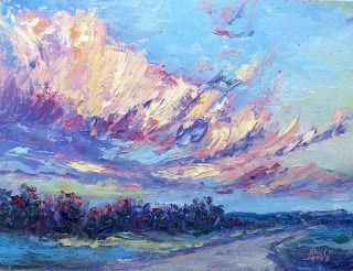 Sky's Color Display, New Contemporary Landscape Painting by Sheri Jones
