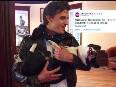 These Tweets About Antoni & The Corgi On 'Queer Eye' Season 4 Will Fill You With Joy