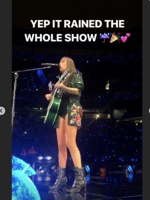 This Photo Of Taylor Swift's Concert In The Rain Is Just Like One Of Her Videos