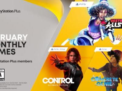 Control: Ultimate Edition, Concrete Genie, and Destruction AllStars Coming to PlayStation Plus in February 2021