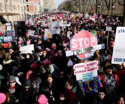 Women's March descends on NYC on anniversary of Trump's inauguration