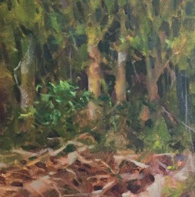 A Tangle of Trees Original Oil on 8x10 canvas by Margaret Aycock